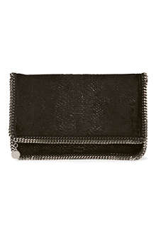 STELLA MCCARTNEY Falabella velvet clutch