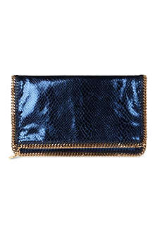 STELLA MCCARTNEY Falabella faux snake clutch