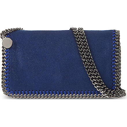 STELLA MCCARTNEY Falabella chain clutch (Cornflower