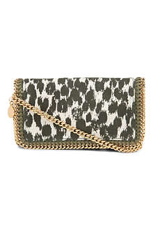 STELLA MCCARTNEY Falabella leopard-print canvas clutch
