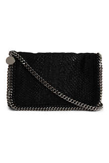 STELLA MCCARTNEY Falabella snake-embossed messenger bag
