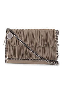 STELLA MCCARTNEY Falabella large fringe cross-body bag