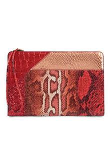 STELLA MCCARTNEY Patchwork clutch
