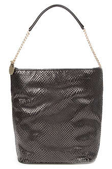STELLA MCCARTNEY Faux python hobo