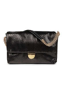 STELLA MCCARTNEY Python-embossed velvet shoulder bag