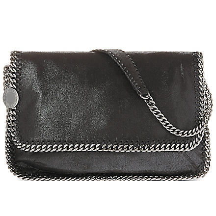 STELLA MCCARTNEY Falabella faux-suede messenger bag (Black