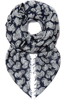 STELLA MCCARTNEY Feather flower scarf