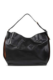 STELLA MCCARTNEY Beckett large faux-leather hobo