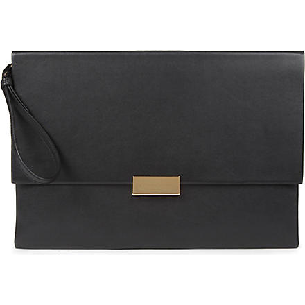 STELLA MCCARTNEY Beckett envelope clutch (Black