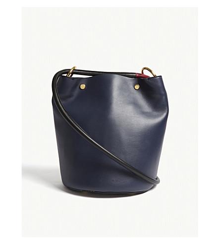 MARNI Leather bucket bag (Blue