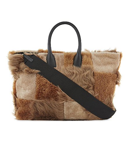 MARNI Shearling shopper (Multi