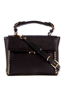 MARNI Studded mini leather satchel