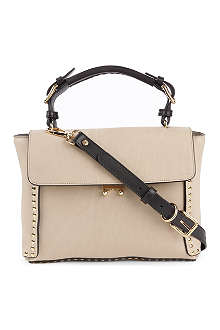 MARNI Studded leather mini satchel