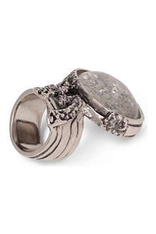 SAINT LAURENT Arty silver-plated ring