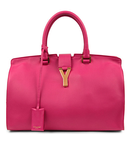 SAINT LAURENT Chyc Ranch medium tote (Pink
