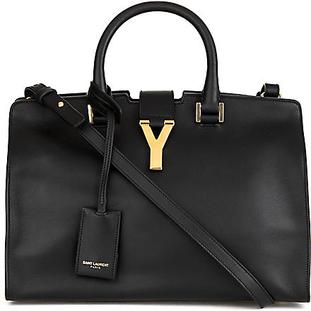 SAINT LAURENT Cabas Chyc small cross-body bag (Noir