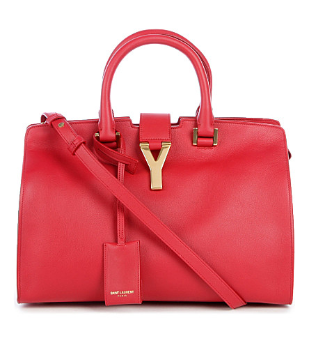SAINT LAURENT Cabas Chyc cross-body bag (Rouge