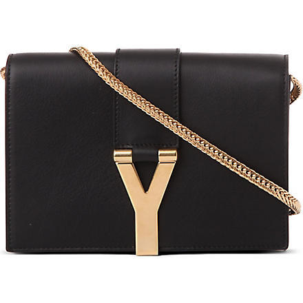 SAINT LAURENT Chyc mini leather shoulder bag (Noir