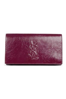 SAINT LAURENT Belle de Jour patent leather clutch