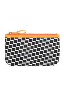PIERRE HARDY Cube-print medium cotton pouch