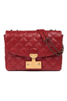 MARC JACOBS Polly Baroque mini quilted leather shoulder bag