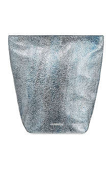 JIL SANDER Lunch crackled metallic pouch