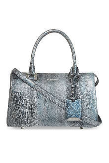 JIL SANDER Small crackled tote
