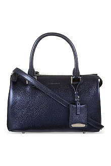 JIL SANDER Metallic leather handbag