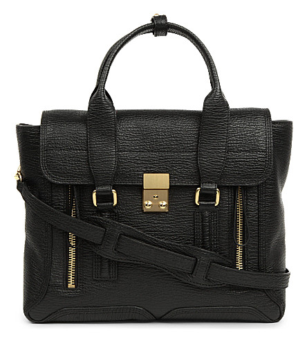 3.1 PHILLIP LIM Pashli medium leather satchel (Black