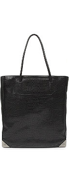 ALEXANDER WANG Prisma mock-croc tote with black nickel hardware