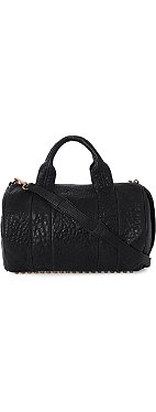 ALEXANDER WANG Rocco pebbled leather bowling bag