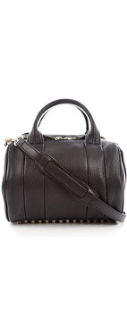 ALEXANDER WANG Rockie Dumbo smooth leather mini bowling bag