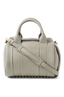 ALEXANDER WANG Rockie Dumbo spongy-leather mini bowling bag