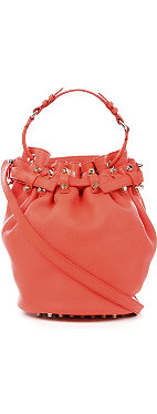 ALEXANDER WANG Diego soft leather bucket bag with nickel hardware