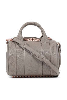 ALEXANDER WANG Rockie pebbled-leather mini bowling bag