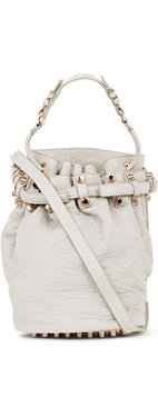 ALEXANDER WANG Diego pebbled leather bucket bag with rose gold hardware