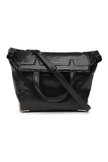 ALEXANDER WANG Prisma lizard-print shoulder bag