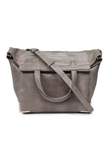 ALEXANDER WANG Prisma lizard-print leather shoulder bag