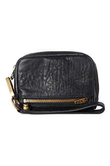 ALEXANDER WANG Fumo leather pouch with gold-toned hardware
