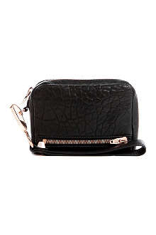 ALEXANDER WANG Fumo leather pouch with rose gold hardware