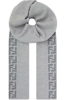 FENDI Wool logo scarf