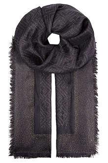 FENDI Logo silk scarf