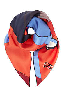 FENDI Monster print silk scarf