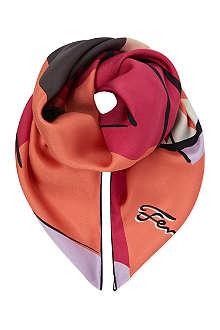 FENDI Monster print silk scarf