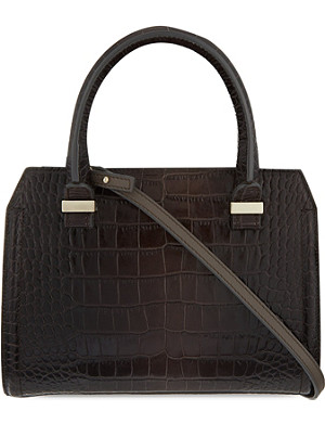 VICTORIA BECKHAM Victoria mini crocodile-print leather tote