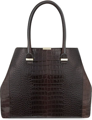 VICTORIA BECKHAM Liberty crocodile-embossed leather tote