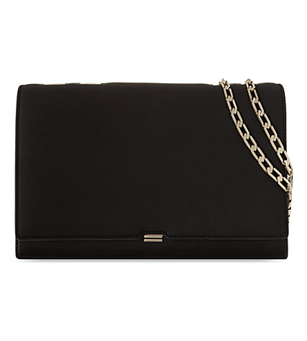 VICTORIA BECKHAM Hexagnal chainlink leather bag (Black