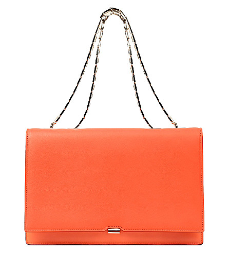 VICTORIA BECKHAM Leather shoulder bag (Tangerine
