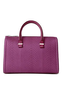 VICTORIA BECKHAM Python leather mini tote bag