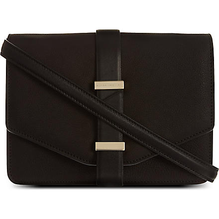 VICTORIA BECKHAM Leather mini satchel (Black